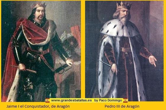 JAIME I EL CONQUISTADOR Y PEDRO III DE ARAGON