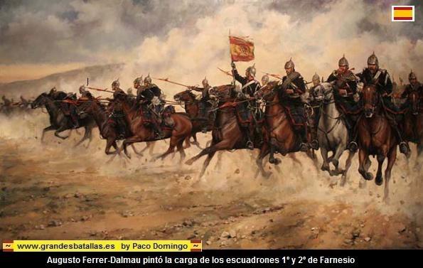CARGA DE LA CABALERIA ESPAÑOLA EN LA BATALLA DE BAILEN