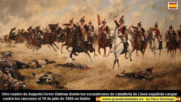 carga caballería de linea española