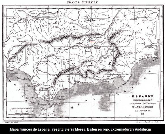 MAPA FRANCES DE ESPAÑA