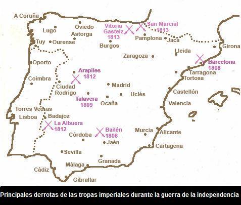 DERROTAS FRANCESAS EN ESPAÑA