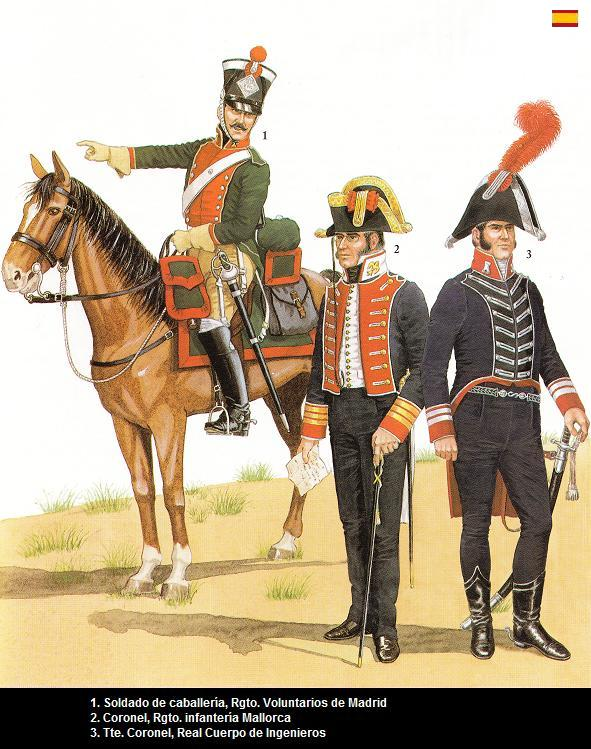 uniformes españoles batalla de bailen