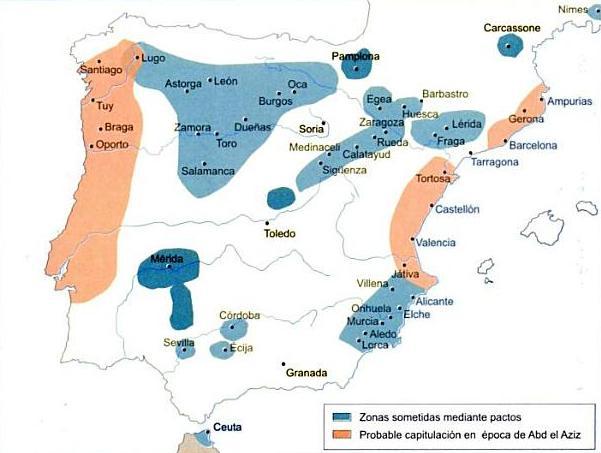 MAPA DE LA RECONQUISTA