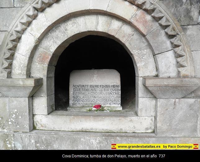 sepultura de pelayo en la cova dominica
