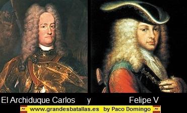 FOTO DEL ARCHIDUQUE CARLOS Y FELIPE V