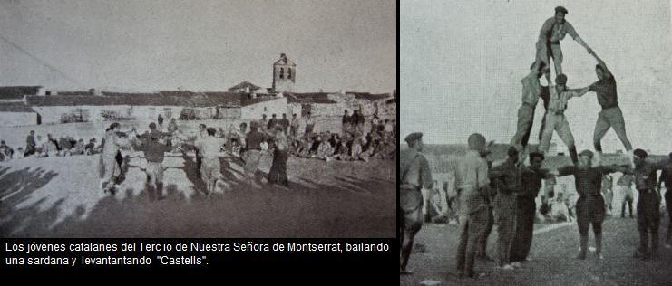 CATALANES DEL TERCIO BAILANDO UNA SARDANA