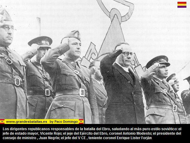 DIRIGENTES COMUNISTAS DEL EJERCITO DEL EBRO