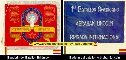 BANDERIN BATALLONES BRIGADAS INTERNACIONALES