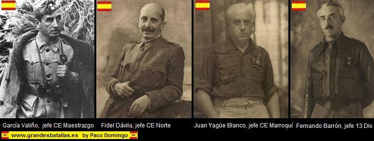JEFES EJERCITO NACIONAL BATALLA DEL EBRO