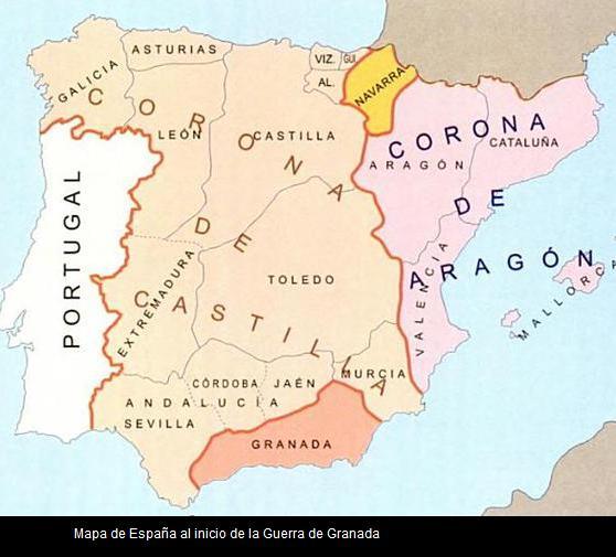 mapa inicial de la guerra de granada