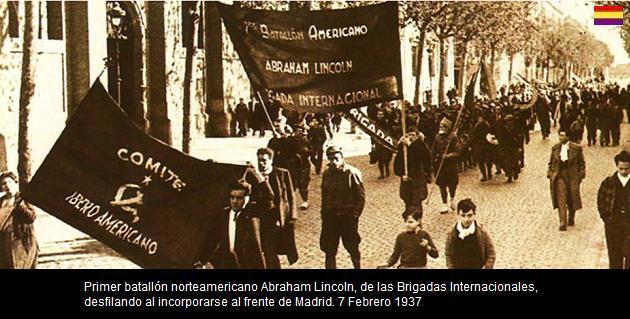 BATALLÓN LINCOLN DESILE EN MADRID