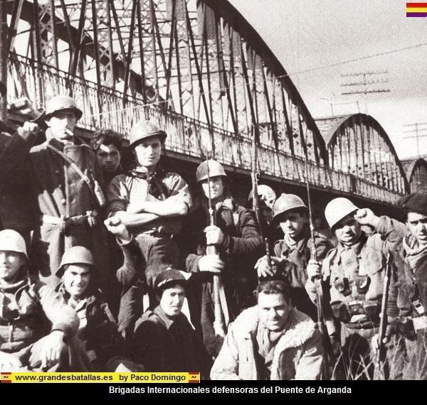 tropas defensoras del puente de arganda