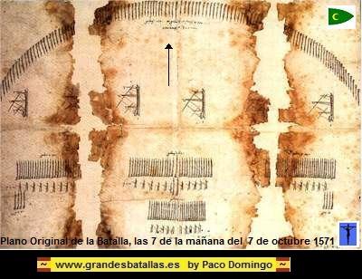 PLANO ORIGINAL DE LA BATALLA DE LEPANTO