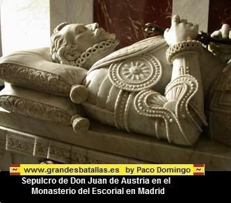 SEPULTURA DE DON JUAN DE AUSTRIA EN EL MONASTERIO DEL ESCORIAL
