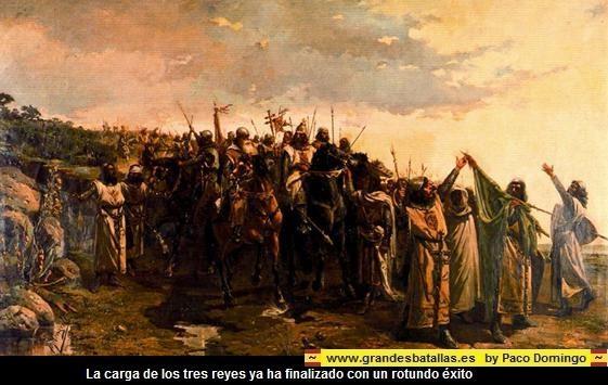 FINAL BATALLA NAVAS DE TOLOSA, carga de los tres reyes