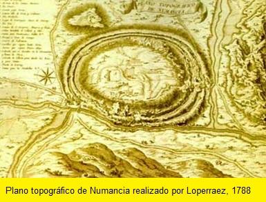 PLANO TOPOGRAFICO DE NUMANCIA