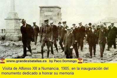 VOSITA DE ALFONSO XIII A NUMANCIA