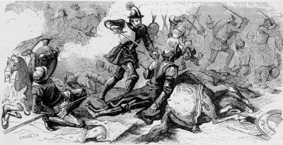 Francisco I cae prisionero de Juan de orbieta