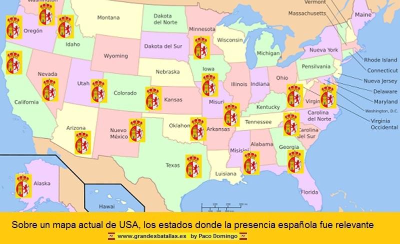 ESTADOS DONDE HUBO PRESENCIA ESPAÑOLA EN USA