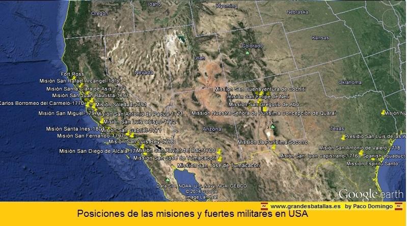MAPA MISIONES ESPAÑOLAS